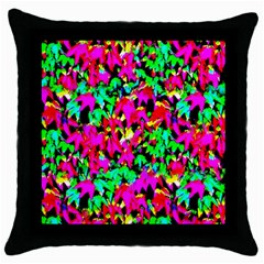 Colorful Leaves Throw Pillow Cases (black)