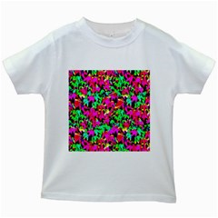 Colorful Leaves Kids White T-Shirts