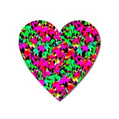 Colorful Leaves Heart Magnet