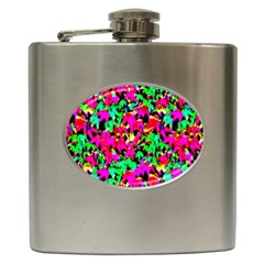 Colorful Leaves Hip Flask (6 Oz)