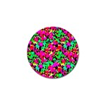 Colorful Leaves Golf Ball Marker Front