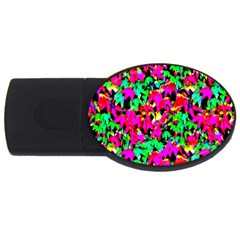 Colorful Leaves USB Flash Drive Oval (2 GB)