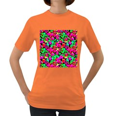Colorful Leaves Women s Dark T-Shirt
