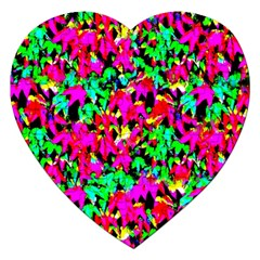 Colorful Leaves Jigsaw Puzzle (heart)