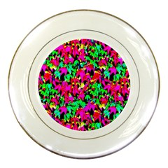 Colorful Leaves Porcelain Plates