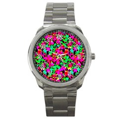 Colorful Leaves Sport Metal Watches