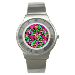 Colorful Leaves Stainless Steel Watches