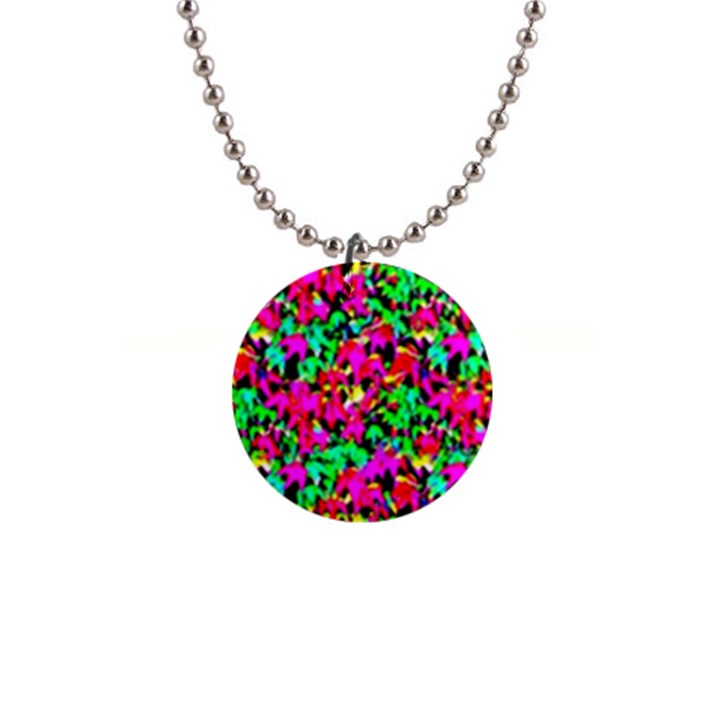 Colorful Leaves Button Necklaces