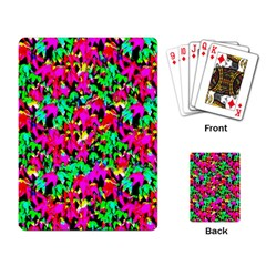 Colorful Leaves Playing Card