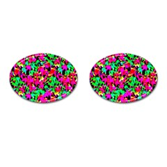 Colorful Leaves Cufflinks (oval)
