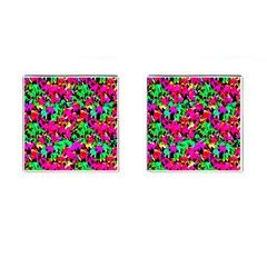 Colorful Leaves Cufflinks (square)