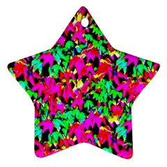 Colorful Leaves Star Ornament (Two Sides)