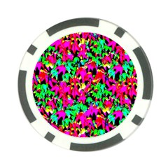 Colorful Leaves Poker Chip Card Guards