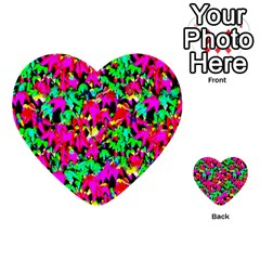 Colorful Leaves Multi Purpose Cards (heart)