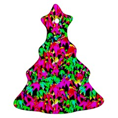 Colorful Leaves Christmas Tree Ornament (2 Sides)