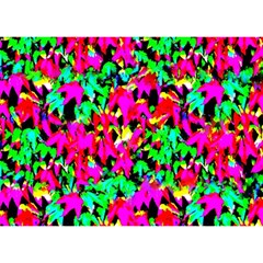 Colorful Leaves Birthday Cake 3D Greeting Card (7x5)