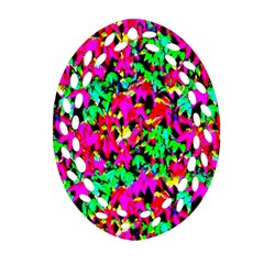 Colorful Leaves Ornament (oval Filigree)
