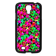 Colorful Leaves Samsung Galaxy S4 I9500/ I9505 Case (Black)