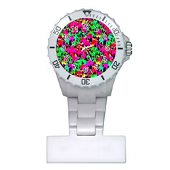 Colorful Leaves Nurses Watches