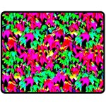 Colorful Leaves Double Sided Fleece Blanket (Medium)  60 x50 Blanket Front