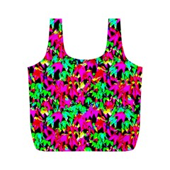 Colorful Leaves Full Print Recycle Bags (M)