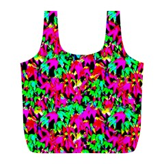 Colorful Leaves Full Print Recycle Bags (L)