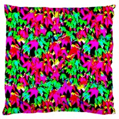 Colorful Leaves Large Flano Cushion Cases (Two Sides)