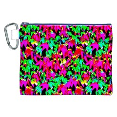 Colorful Leaves Canvas Cosmetic Bag (XXL)