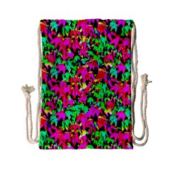 Colorful Leaves Drawstring Bag (Small)