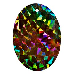 Cool Glitter Pattern Ornament (oval)