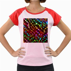 Cool Glitter Pattern Women s Cap Sleeve T-Shirt