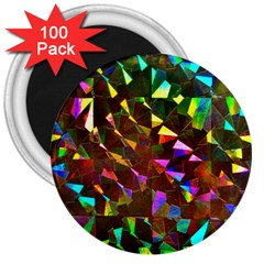 Cool Glitter Pattern 3  Magnets (100 Pack)