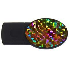 Cool Glitter Pattern Usb Flash Drive Oval (2 Gb)