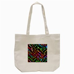 Cool Glitter Pattern Tote Bag (cream)
