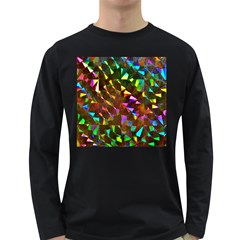 Cool Glitter Pattern Long Sleeve Dark T Shirts