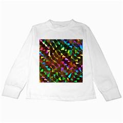 Cool Glitter Pattern Kids Long Sleeve T Shirts