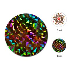Cool Glitter Pattern Playing Cards (Round)