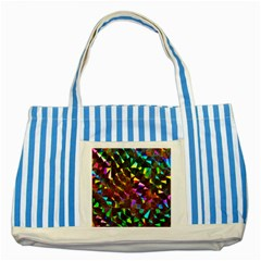 Cool Glitter Pattern Striped Blue Tote Bag
