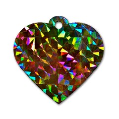 Cool Glitter Pattern Dog Tag Heart (one Side)