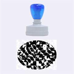 Cool Glitter Pattern Rubber Oval Stamps