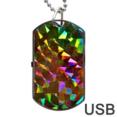 Cool Glitter Pattern Dog Tag Usb Flash (one Side)