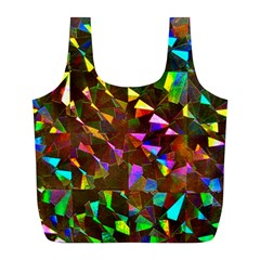 Cool Glitter Pattern Full Print Recycle Bags (L)