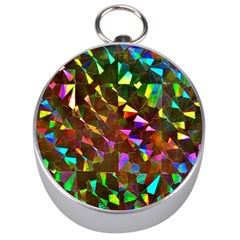 Cool Glitter Pattern Silver Compasses