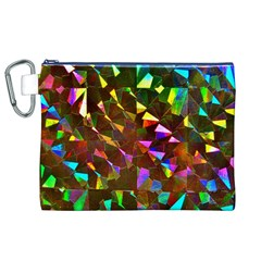 Cool Glitter Pattern Canvas Cosmetic Bag (xl)