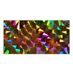 Cool Glitter Pattern Satin Shawl
