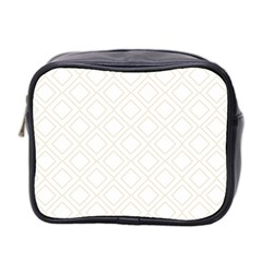 Elegant Beige Modern Pattern Design Mini Toiletries Bag 2-Side