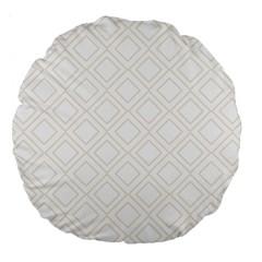 Elegant Beige Modern Pattern Design Large 18  Premium Round Cushions