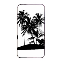 Tropical Scene Island Sunset Illustration Apple iPhone 4/4s Seamless Case (Black)