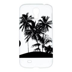 Tropical Scene Island Sunset Illustration Samsung Galaxy S4 I9500/I9505 Hardshell Case
