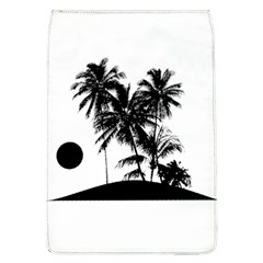 Tropical Scene Island Sunset Illustration Flap Covers (L)